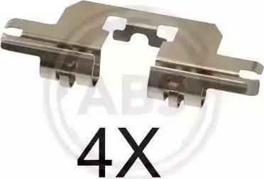 A.B.S. 1724Q - Комплектующие, колодки дискового тормоза avtokuzovplus.com.ua