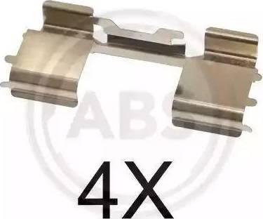A.B.S. 1726Q - Комплектующие, колодки дискового тормоза autodnr.net