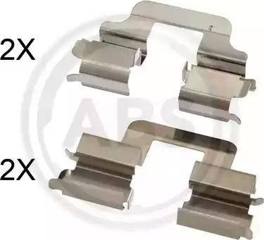 A.B.S. 1731Q - Комплектующие, колодки дискового тормоза avtokuzovplus.com.ua