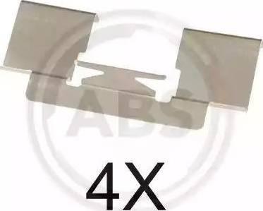 A.B.S. 1732Q - Комплектующие, колодки дискового тормоза avtokuzovplus.com.ua