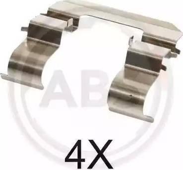 A.B.S. 1735Q - Комплектующие, колодки дискового тормоза avtokuzovplus.com.ua