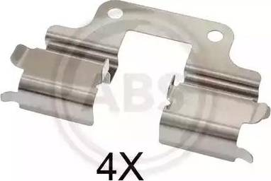 A.B.S. 1739Q - Комплектующие, колодки дискового тормоза avtokuzovplus.com.ua