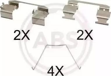 A.B.S. 1743Q - Комплектующие, колодки дискового тормоза avtokuzovplus.com.ua