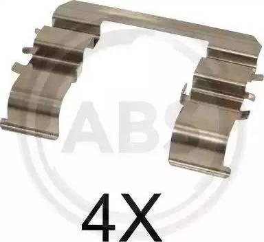 A.B.S. 1744Q - Комплектующие, колодки дискового тормоза avtokuzovplus.com.ua