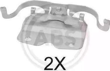 A.B.S. 1759Q - Комплектующие, колодки дискового тормоза avtokuzovplus.com.ua