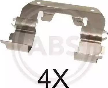 A.B.S. 1767Q - Комплектующие, колодки дискового тормоза avtokuzovplus.com.ua