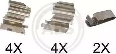 A.B.S. 1775Q - Комплектующие, колодки дискового тормоза avtokuzovplus.com.ua