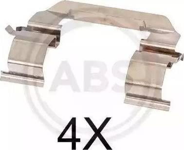 A.B.S. 1776Q - Комплектующие, колодки дискового тормоза avtokuzovplus.com.ua