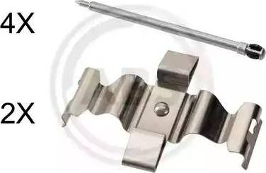 A.B.S. 1803Q - Комплектующие, колодки дискового тормоза avtokuzovplus.com.ua