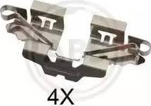 A.B.S. 1808Q - Комплектующие, колодки дискового тормоза avtokuzovplus.com.ua