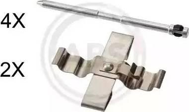 A.B.S. 1809Q - Комплектующие, колодки дискового тормоза avtokuzovplus.com.ua