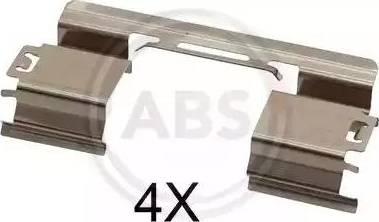 A.B.S. 1813Q - Комплектующие, колодки дискового тормоза avtokuzovplus.com.ua