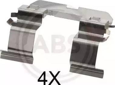 A.B.S. 1816Q - Комплектующие, колодки дискового тормоза avtokuzovplus.com.ua