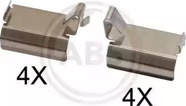 A.B.S. 1820Q - Комплектующие, колодки дискового тормоза avtokuzovplus.com.ua