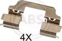 A.B.S. 1828Q - Комплектующие, колодки дискового тормоза avtokuzovplus.com.ua