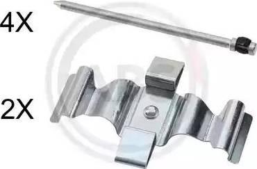 A.B.S. 1829Q - Комплектующие, колодки дискового тормоза avtokuzovplus.com.ua