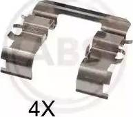 A.B.S. 1831Q - Комплектующие, колодки дискового тормоза avtokuzovplus.com.ua