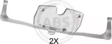A.B.S. 1851Q - Комплектующие, колодки дискового тормоза avtokuzovplus.com.ua