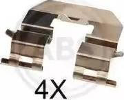 A.B.S. 1856Q - Комплектующие, колодки дискового тормоза avtokuzovplus.com.ua