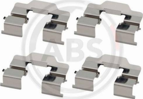 A.B.S. 1868Q - Комплектующие, колодки дискового тормоза avtokuzovplus.com.ua