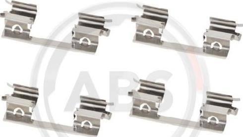 A.B.S. 1873Q - Комплектующие, колодки дискового тормоза avtokuzovplus.com.ua