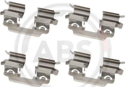 A.B.S. 1881Q - Комплектующие, колодки дискового тормоза avtokuzovplus.com.ua