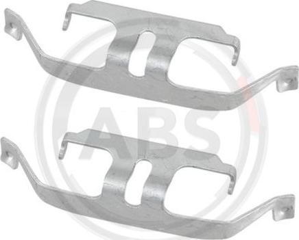 A.B.S. 1884Q - Комплектующие, колодки дискового тормоза avtokuzovplus.com.ua