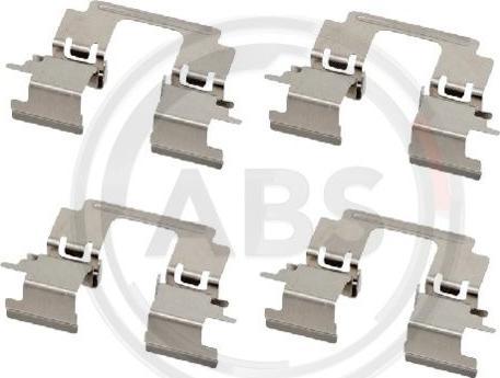 A.B.S. 1896Q - Комплектующие, колодки дискового тормоза avtokuzovplus.com.ua