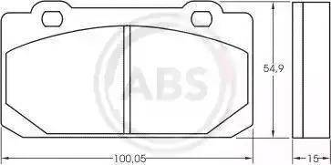 A.B.S. 36006 - Комплект тормозных колодок, дисковый тормоз autodnr.net