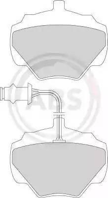 A.B.S. 361251 - Комплект тормозных колодок, дисковый тормоз autodnr.net