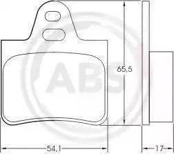 A.B.S. 36129 - Комплект тормозных колодок, дисковый тормоз autodnr.net