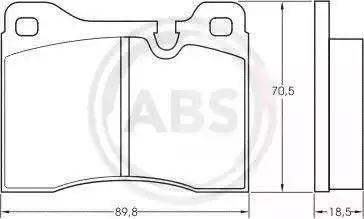 A.B.S. 36133 - Комплект тормозных колодок, дисковый тормоз autodnr.net