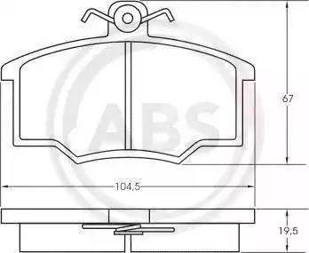 A.B.S. 36138 - Комплект тормозных колодок, дисковый тормоз autodnr.net