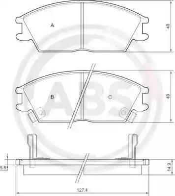 A.B.S. 36172 - Комплект тормозных колодок, дисковый тормоз autodnr.net