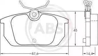 A.B.S. 36188 - Комплект тормозных колодок, дисковый тормоз autodnr.net