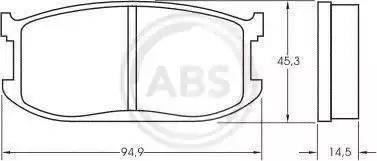 A.B.S. 36453 - Комплект тормозных колодок, дисковый тормоз autodnr.net