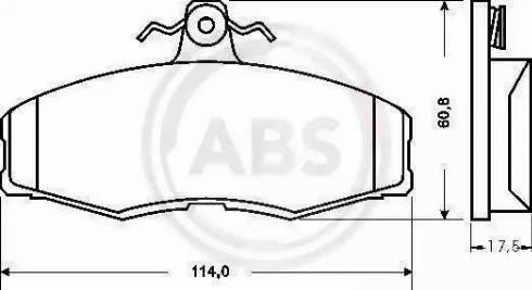 A.B.S. 36516 - Комплект тормозных колодок, дисковый тормоз autodnr.net
