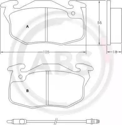 A.B.S. 36565 - Комплект тормозных колодок, дисковый тормоз autodnr.net