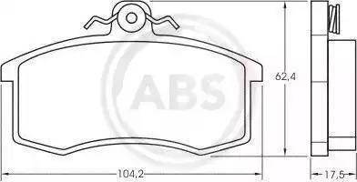 A.B.S. 36576 - Комплект тормозных колодок, дисковый тормоз autodnr.net