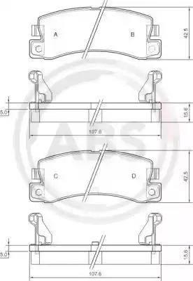 A.B.S. 36604 - Комплект тормозных колодок, дисковый тормоз autodnr.net