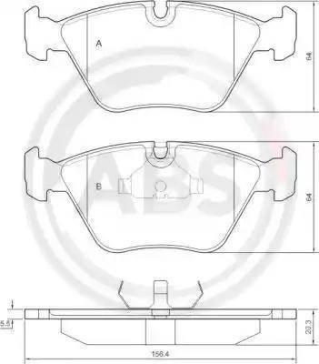 A.B.S. 36650 - Комплект тормозных колодок, дисковый тормоз autodnr.net