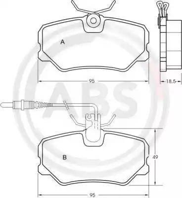 A.B.S. 36651 - Комплект тормозных колодок, дисковый тормоз autodnr.net