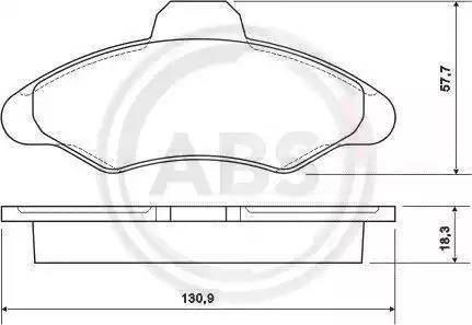 A.B.S. 36709 - Комплект тормозных колодок, дисковый тормоз autodnr.net