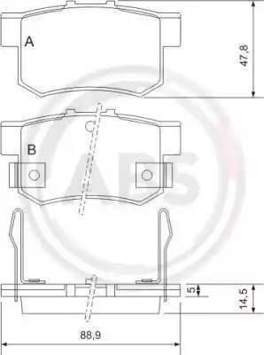 A.B.S. 36712 - Тормозные колодки, дисковые car-mod.com