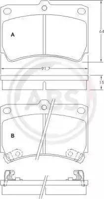 A.B.S. 36726 - Комплект тормозных колодок, дисковый тормоз autodnr.net