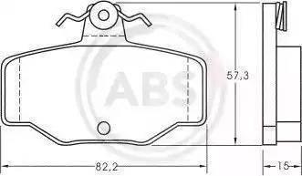 A.B.S. 36741 - Комплект тормозных колодок, дисковый тормоз autodnr.net