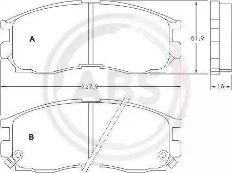 A.B.S. 36763 - Комплект тормозных колодок, дисковый тормоз autodnr.net