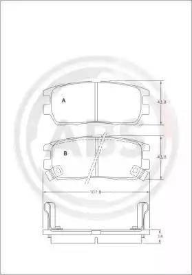 A.B.S. 36781 - Комплект тормозных колодок, дисковый тормоз autodnr.net