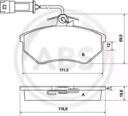 A.B.S. 36791 - Комплект тормозных колодок, дисковый тормоз autodnr.net
