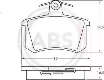 A.B.S. 36818 - Комплект тормозных колодок, дисковый тормоз autodnr.net